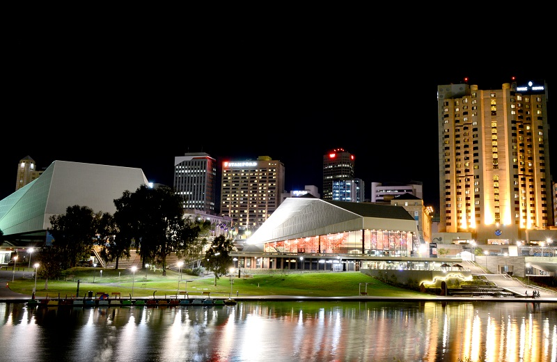 Adelaide Festival Centre at night